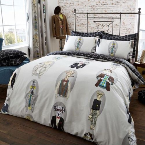 Fashion Animal Modern Printed Complete Duvet Cover Set